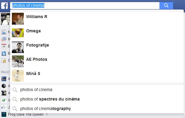 moteur de recherche facebook
