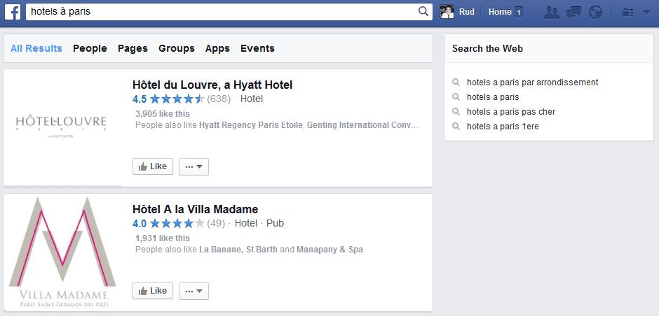 resultats de recherche facebook