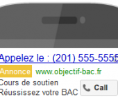 annonce appel uniquement google adwords