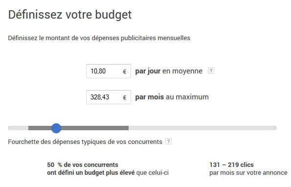budget internet publicité