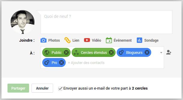 envoyer un email google plus