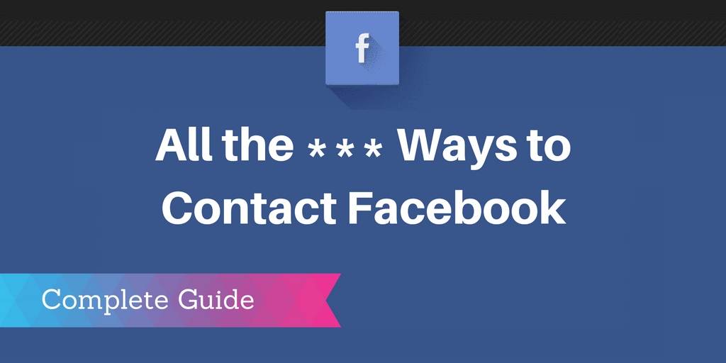 how to contact facebook