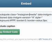 insérer photo ou vidéo instagram dans votre site ou blog