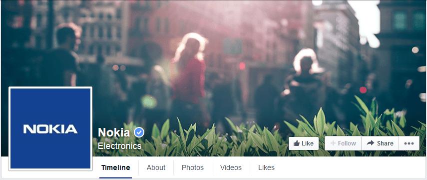 page facebook photo