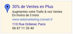 publicité google maps