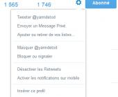 bloquer utilisateur twitter