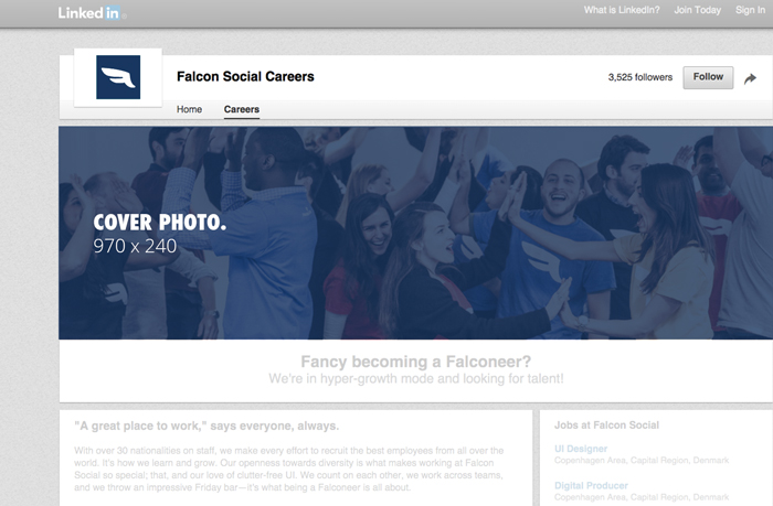dimensions photos pages linkedin