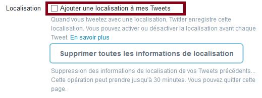 localisation twitter