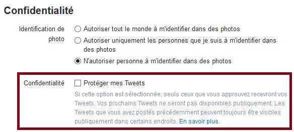 proteger tweets