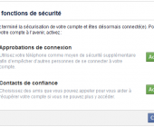 securité facebook