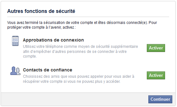 securité facebook