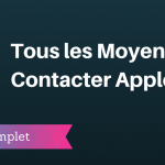 Comment Contacter Apple ?