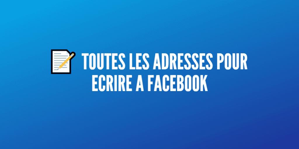 écrire facebook