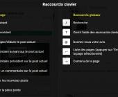raccourcis google+