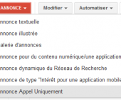 appel uniquement google adwords