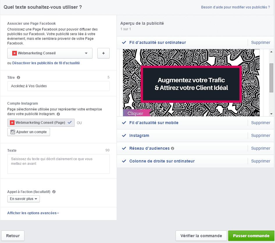 créer annonce facebook