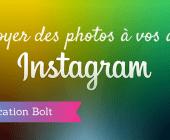 envoyer photos instagram