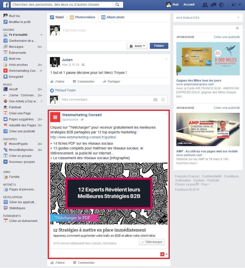 facebook formats