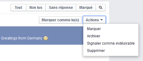 messagerie facebook