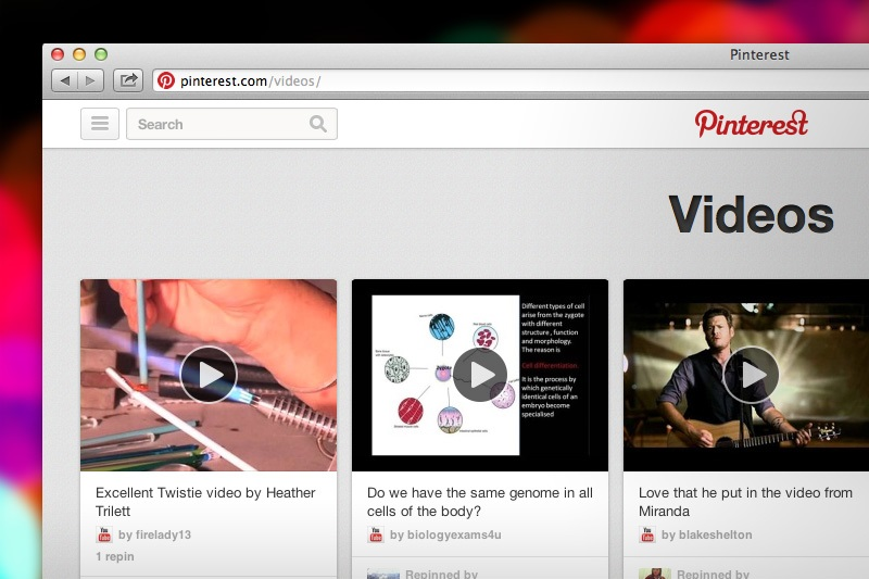 pin video