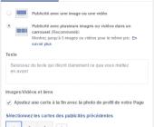 publicité carrousel facebook