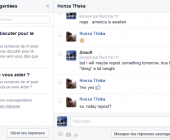 réponses automatisées facebook