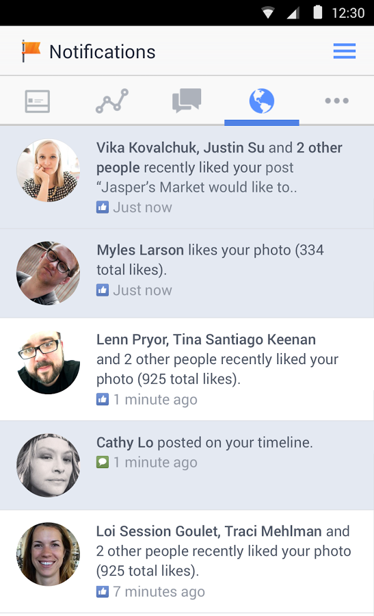 application statistiques facebook
