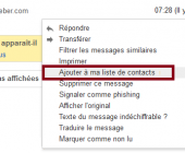 ajouter contact gmail