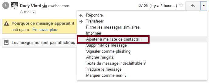 ajouter contact gmail