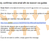 validation email