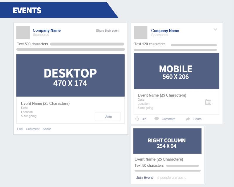 dimensions campagnes facebook