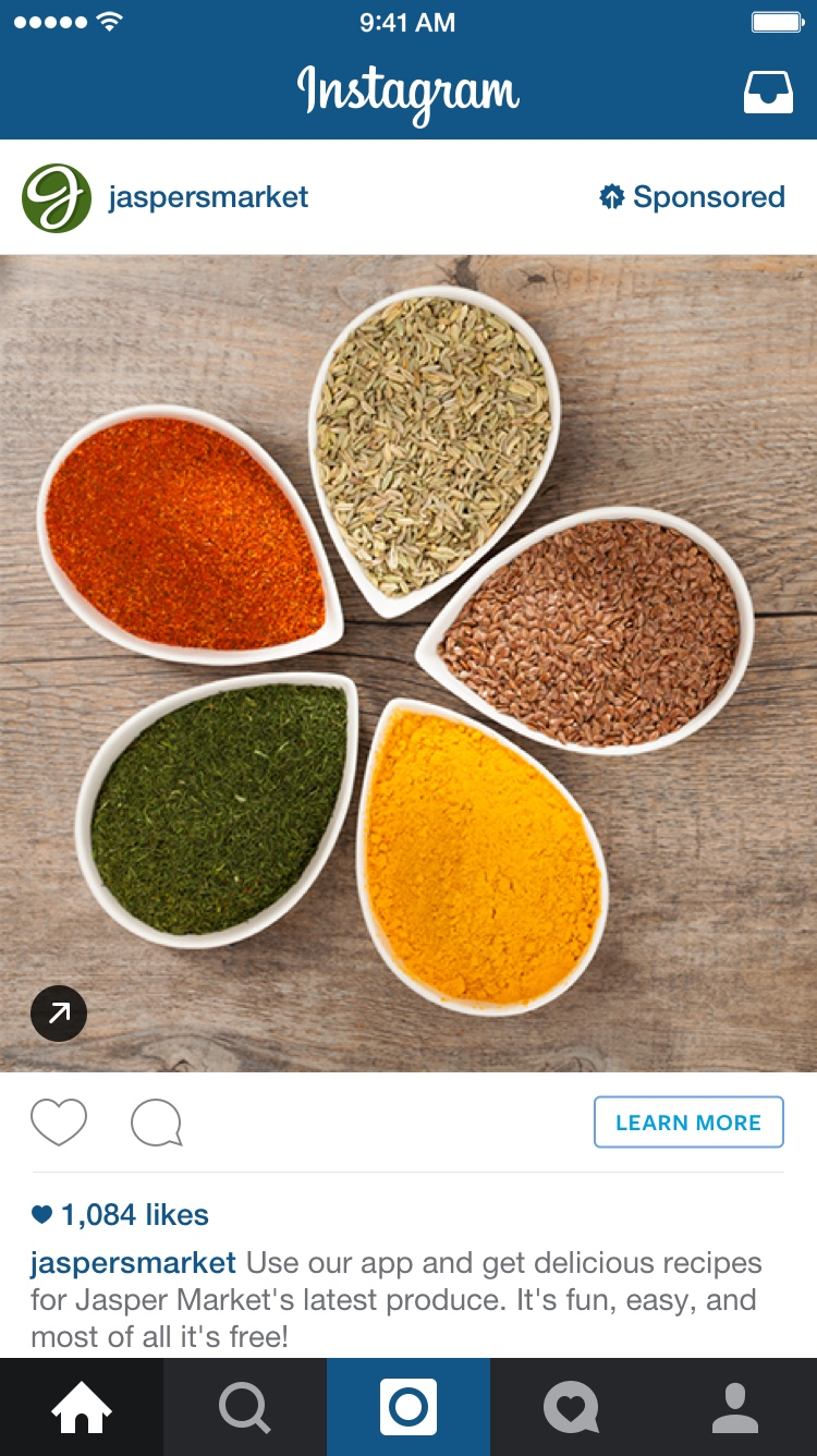 publicité image instagram