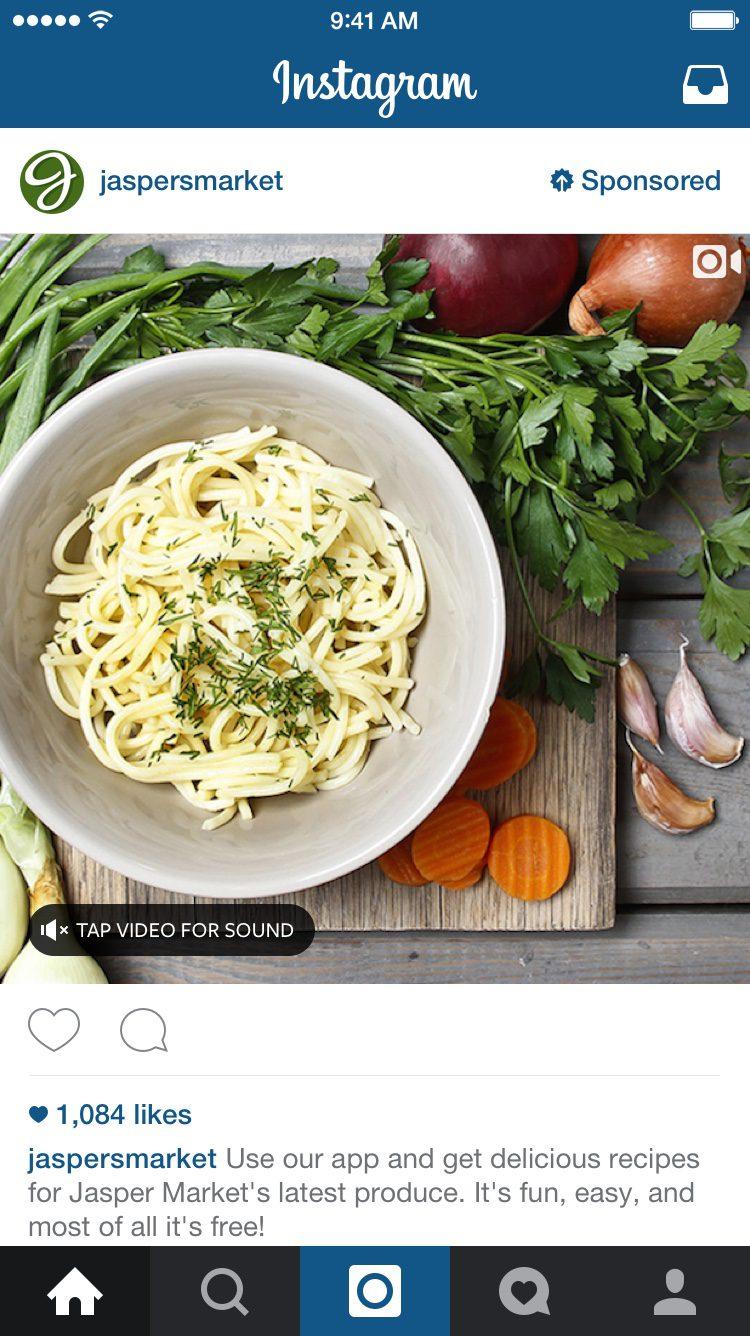 publicité vidéo instagram