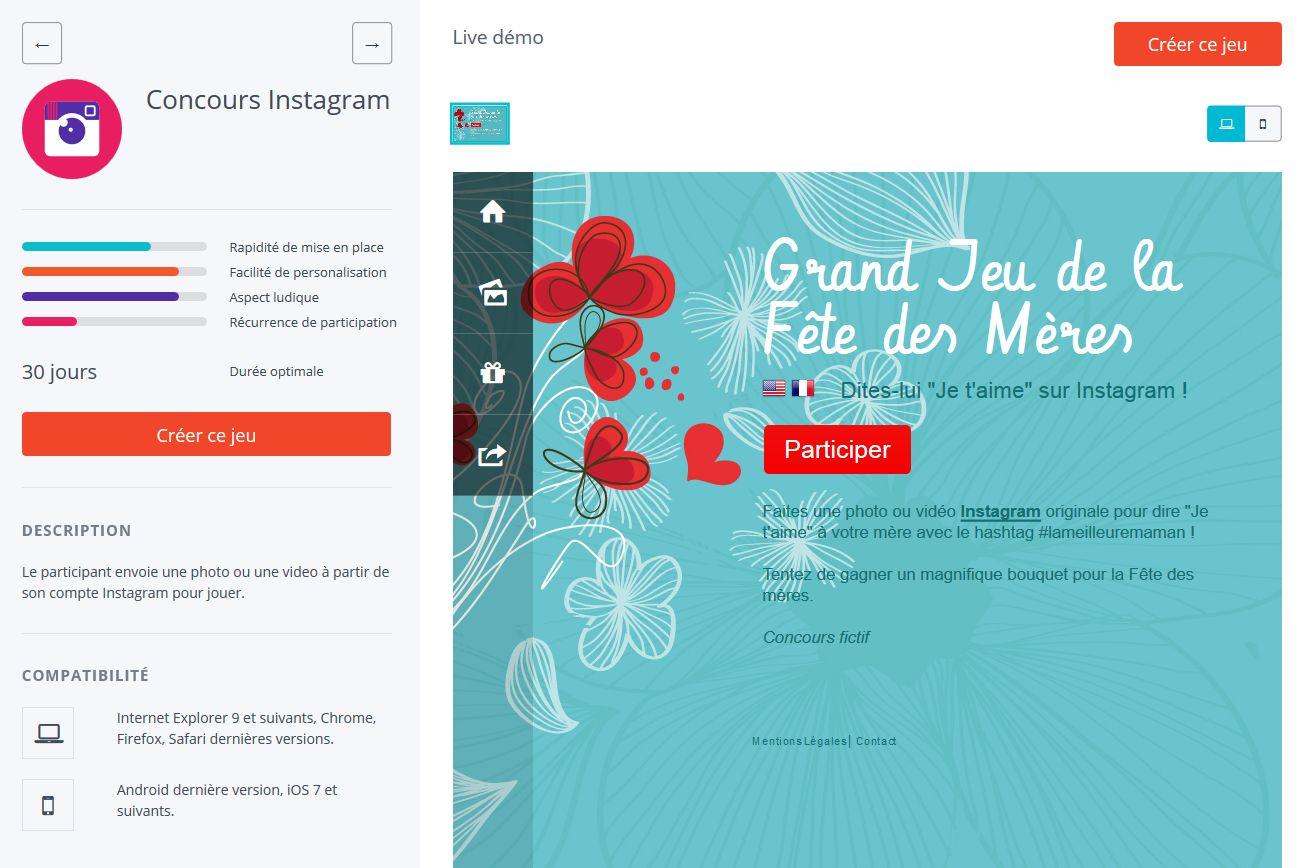 créer concours instagram
