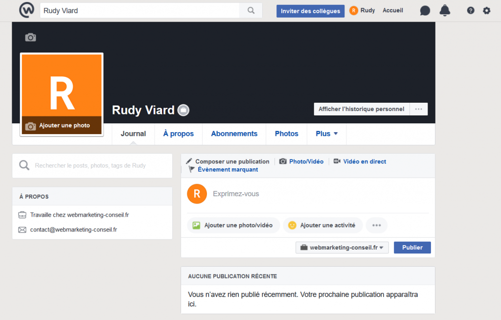 profil facebook entreprises