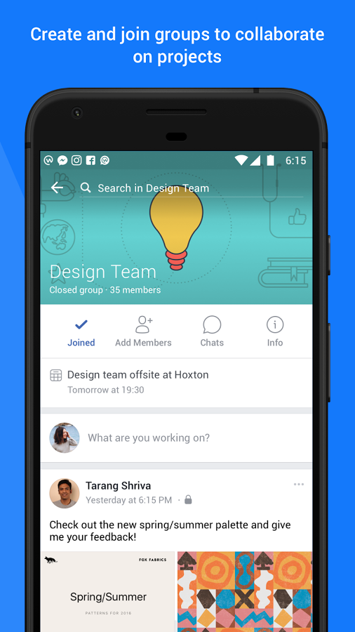 workplace by facebook mobile