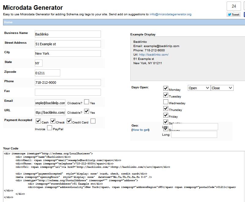 générer microdata