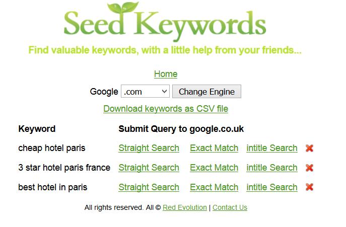 recherche mots-clés