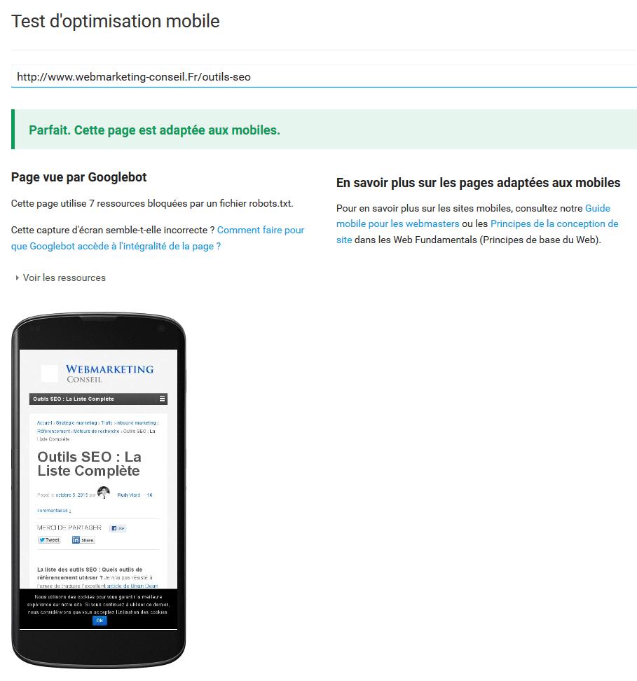 référencement mobile