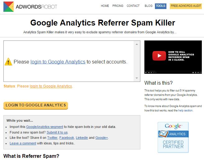spam killer google analytics