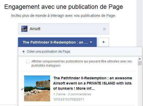 annonce diaporama facebook