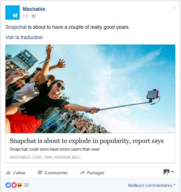 algorithme snapchat
