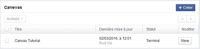 publication facebook caneva