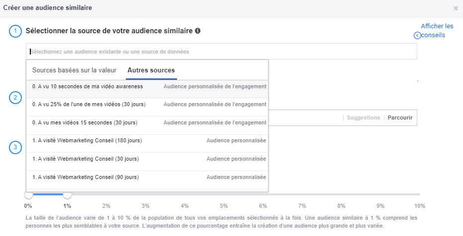 audience similaire facebook