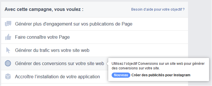 campagne facebook leads