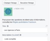campagne facebook produits