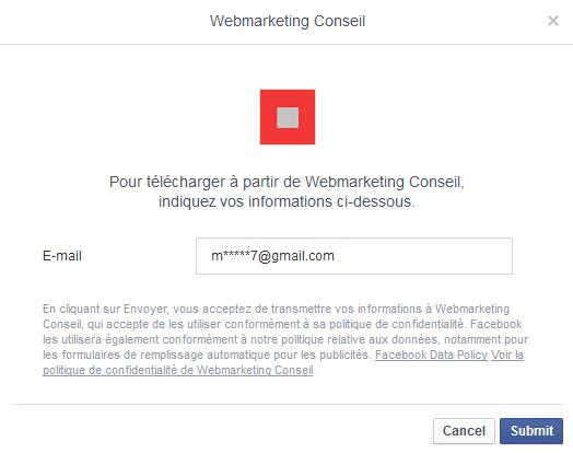 lead ad facebook
