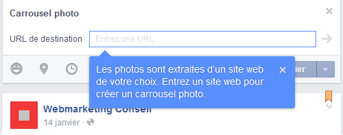 post carrousel facebook
