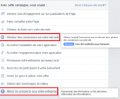 publicité facebook leads