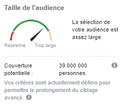 taille audience facebook